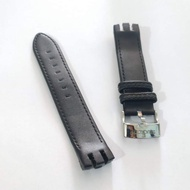 Leathers Watch Bend Strap Swatch 21mm Black Leather Strap