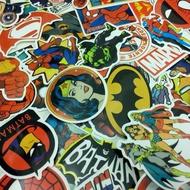 漫威 正義聯盟 DC 復仇者聯盟 超人 鋼鐵人 神力女超人 蜘蛛人 蝙蝠俠 浩克 美國隊長 行李箱貼紙 吉他貼紙 貼紙