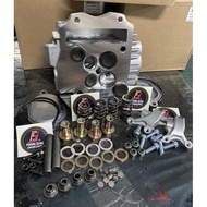 WAVE125 OVER CNC HEAD CYLINDER 21/24 COMPLETE SET 4 VALVE (STOCK LIMIT) FIRST COME FIRST DAPAT!!