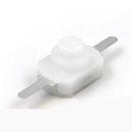 1208-YD 白色 直腳 小型按鈕開關2腳 強光 手電筒 控制開關 自鎖