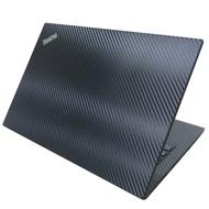 EZstick Lenovo ThinkPad T490 黑色 Carbon 立體紋機身貼