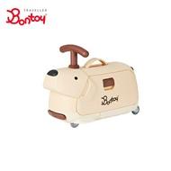 Bontoy 兒童滑步騎乘行李箱-黃金獵犬