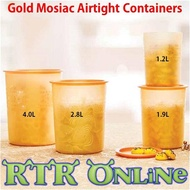 Tupperware 100% Airtight Gold Mosaic One Touch Container Storage