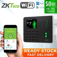 ZKTeco WL10 Fingerprint Attendance Machine Time Recorder Time Clock Terminal Wi-Fi Mobile APP 2.8 inch TFT USB Scanner