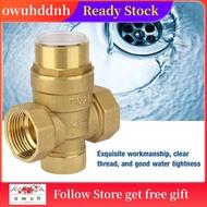 Owuh 1英寸減壓閥黃銅水壓力調節器,帶儀表