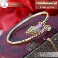กำไลข้อมือปี่เซี๊ยะ เศษทองคำแท้ หนัก 1 บาท  สีม่วง (1 ชิ้น)
