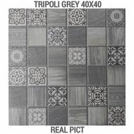 Keramik Kasar 40x40 Tripoli Grey