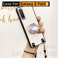 Crystal Stand Samsung Galaxy Z Fold3 Phone Case Foldable Screen W22 Protective Case
