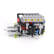Assembly-Model Building-Block-Kit Engine-Integrated-Module MOC Particle Christmas-Gifts