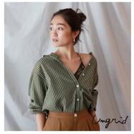 Ungrid  直條紋寬鬆版經典襯衫(2色)