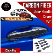 [Spot Free Shipping]SG Seller Fast Delivery - Honda Jazz/Fit GK GK3 GK5 Shuttle Car Door Handle Cover Protector Carbon F