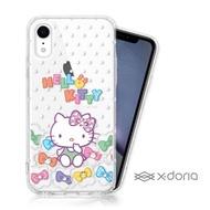 【SANRIO 三麗鷗】Hello Kitty iPhone XR 彩繪水鑽空壓手機殼(雲朵)