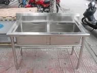 INPHIC-不鏽鋼水槽 洗手臺 洗碗槽 流理臺 工作臺(120cm雙槽)