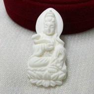 純白硨磲觀音吊墜項墜 墜子掛件掛墜佛教寶石特價