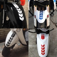 accessories❁Motorcycle reflective stickers modified front wheel mudguard reflective arrow waterproof stickers