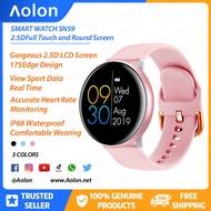 [Aolon] S59 Smart watch ผู้หญิงเลดี้สร้อยข้อมือนาฬิกาสมาร์ทหน้าจอสัมผัสติดตามการออกกำลังกายบลูทูธเหล็กสายรัดซิลิโคนสำหรับหญิง PK นาฬิกาสมาทวอช  นาฬิกาไอโมเด็ก apple wach garmin amazefit oppo watch xiaomi huawei
