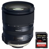 Tamron Tamron SP 24-70mm f/2.8 Di VC USD G2 Lens with Sandisk Extreme PRO SDXC 128GB UHS-1 Memory Ca