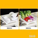 家用不銹鋼瀝水架碗碟筷洗碗池瀝水籃廚房盤子收納盒濾水碗籃晾放碗架CY2203