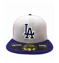 MLB NEW ERA Fitted Cap [5331325-008] 男款 大聯盟 洛杉磯 道奇 選手 棒球帽 灰藍