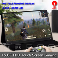 หน้าจอระบบ FULL HD TOUCH SCREEN WITH BATTERY 5000mAH 15.6 Inch Super Thin HDR function IPS Portable Type C led ips Screen monitor for PS4 XBOX NS TV Set Box