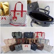 โปรโมชั่น กระเป๋าเซ็ทคู่-Blue-Blossom-แบรนด์แท้-พร้อมถุงผ้าแบรนด์เคลือบฟรอยด์สีทอง-No.BB-3285 ราคาถูก กระเป๋าผู้หญิง กระเป๋าสะพายข้างผู้หญิงน่ารัก กระเป๋าสะพายข้างผู้หญิงแฟชั่น กระเป๋าสะพายข้างผู้หญิงแบรนด์เนม