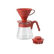HARIO V60紅色陶瓷濾杯咖啡壺組 陶瓷手沖濾杯 1-2人份 年節送禮  情人節禮物
