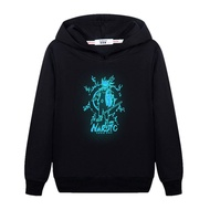 Naruto hoodie for kid long-sleeved cotton jacket boy naruto anime hoodie long-sleeved children's luminous sweater
