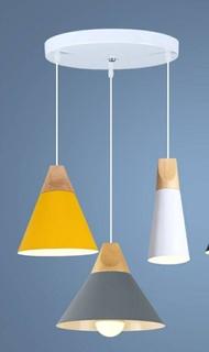 吊燈 簡歐吊燈實木餐廳吊燈單頭吧臺燈三頭個性餐桌燈現代創意飯廳燈具    居家生活節