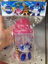 🌧代購 正版 救援小英雄 Poli波力 Amber安寶 彈蓋水壺 滑蓋水壺