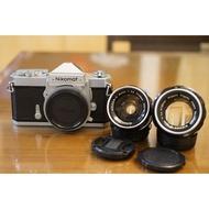尼康 Nikon FTN銀黑機加購 NIKKOR-S 50mm & 35mm標準街拍鏡頭 Fm2 AE1
