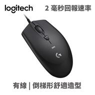 Logitech 羅技 G90 (二代) 電競滑鼠 USB 有線 2ms 200-2500dpi 4鍵 黑