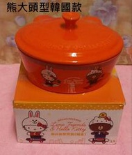 HELLO KITTY聯名造型陶瓷烤盤(附蓋) KT造型陶瓷烤盤 大烤皿 Kitty頭型 焗烤料理 Kitty烤盤