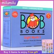 Original Children Popular Books Bob Books Set 5 Sight Words Colouring English Activity Story Picture Book