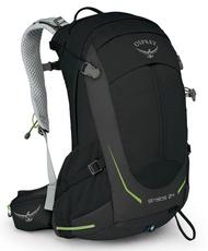 【Osprey 美國】STRATOS 24 登山背包 運動背包 健行背包 男款 黑色 (Stratos24) 【容量24L】
