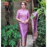 ⭐⭐⭐⭐⭐(เสื้อ)ชุดไทยจิตรลดา ไทยบรม บัวหลวง ล้านนา แขนยาว สั้น สามส่วน ผ้าไหมไทย ไหมลาว สไบ ผ้าซิ่น พร