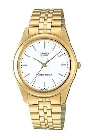 Casio Standard นาฬิกาข้อมือผู้ชาย สายสแตนเลส รุ่น MTP-1129N,MTP-1129N-7A - สีทอง