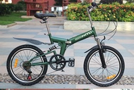 20 Inch HITO Folding Bike Ultra Light Portable Mountain Bike Men and Women Adult Ladies Variable Speed Bicycle