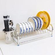 瀝水架 304不銹鋼碗碟架瀝水架 碗盤筷子收納架子單層廚房用品置物架家用 保固 可開發票