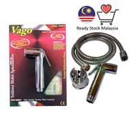 -- Vago Hand Sprayer Toilet Bidet Set 1.2 Meter Stainless Steel Hose with screws