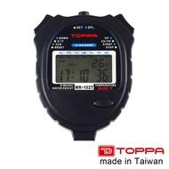 【TOPPA】台灣製多功能防潑水運動電子碼表 1/100秒跑錶 10組記憶