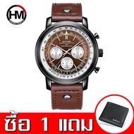 VAVA VOOM นาฬิกาผู้ชาย นาฬิกาธุรกิจ นาฬิกาข้อมือกีฬา สายหนัง ตัวเรือนสแตนเลส กันน้ำ พร้อมปฏิทิน นาฬิกาควอตซ์ คุณภาพดี รุ่นใหม่ในปี 2020 (Casio movement ของญี่ปุ่น)