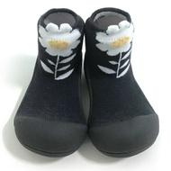 韓國【Attipas】快樂腳襪型學步鞋- 黑色小花