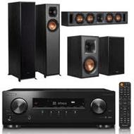 【Pioneer 先鋒】VSX-534-B+Klipsch R-610F+R-34C+R-41M(擴大機+落地型喇叭+中置喇叭+書架型喇叭)