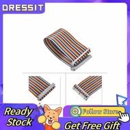 Dressit 適用於Banana Pi Raspberry的40Pin GPIO帶狀扁平適配器電纜線