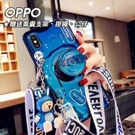 【韓式作風】OPPO RENO 2/RENO 10倍變焦版/AX7/AX5/R17/R15 藍光相機造型氣囊支架手機殼RCOPPO201(二色)