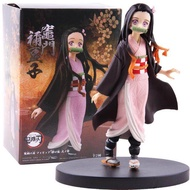 Model 14 cm Demon Slayer Nezuko Tanjirou PVC Action Figure Toy Anime Demon Slayer Figure