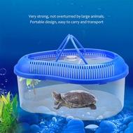 โปร่งใส Breeding กล่องสำหรับยกเต่าปลาแบบพกพาชามสีสุ่ม