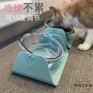 貓飯盆保護頸椎斜口貓碗食盆傾斜寵物碗