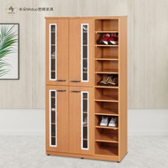 【米朵Miduo】3.2尺壓克力四門半開放塑鋼鞋櫃 防水塑鋼家具