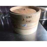 出清商品-9寸竹蒸籠 一個全新,蓋+蒸籠二手